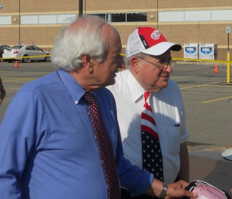 Nothing Personal: Representative Sander and Senator Carl Levin at the Clawson 4th of July Parade shortly after speaking with Libertarian Congressional candidate Jim Fulner, and Recall organizer Scotty Boman.